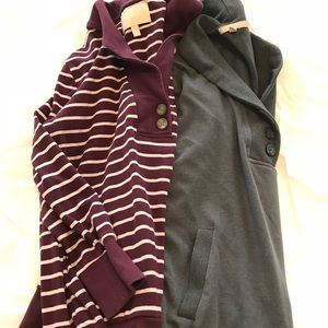 2 pack Banana Republic sweatshirt tops